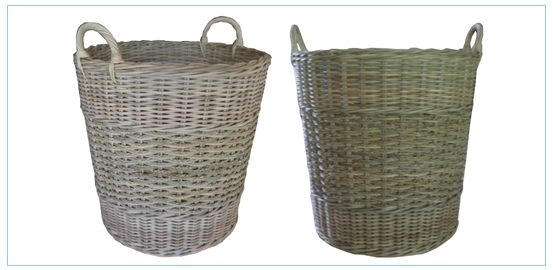 keranjang rotan rattan and seagrass log